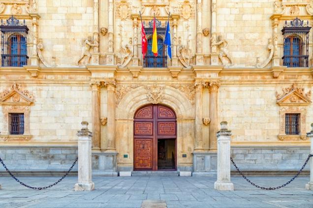 Colegio Mayor de San Ildefonso located in the Plaza de San Diego of Alcalá de Henares, Spain.
