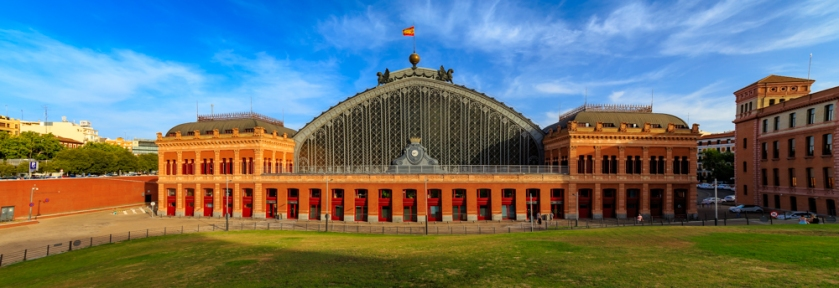 The Atocha Train Station in Madrid, Spain.