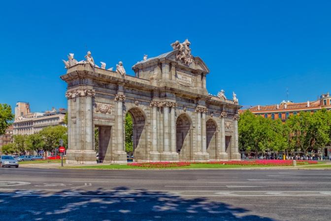 Puerta de Alcalá in Madrid, Spain.